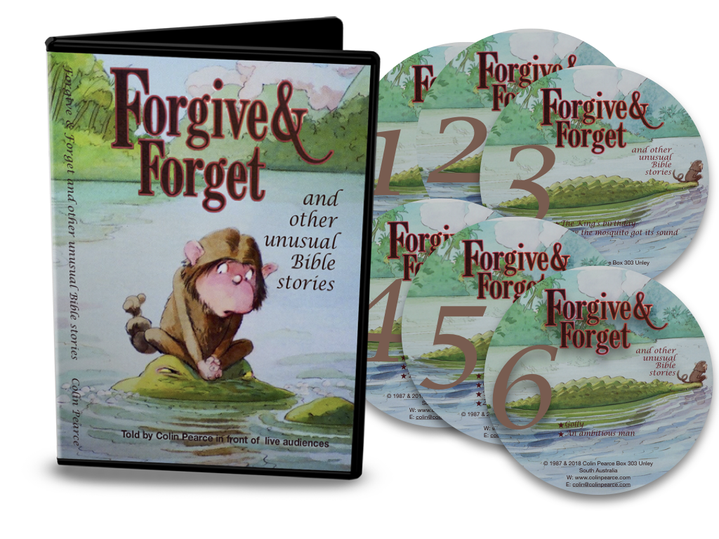 Colin Pearce tells 'Forgive and forget and other unusual Bible stories'