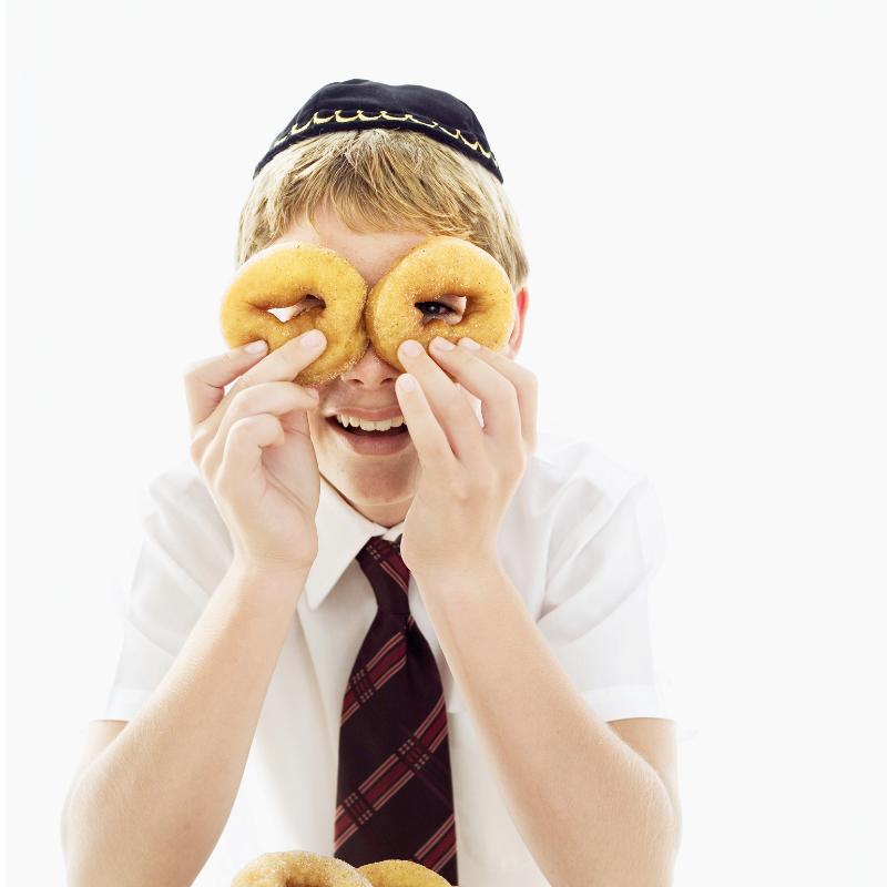 Jewish boy having fun